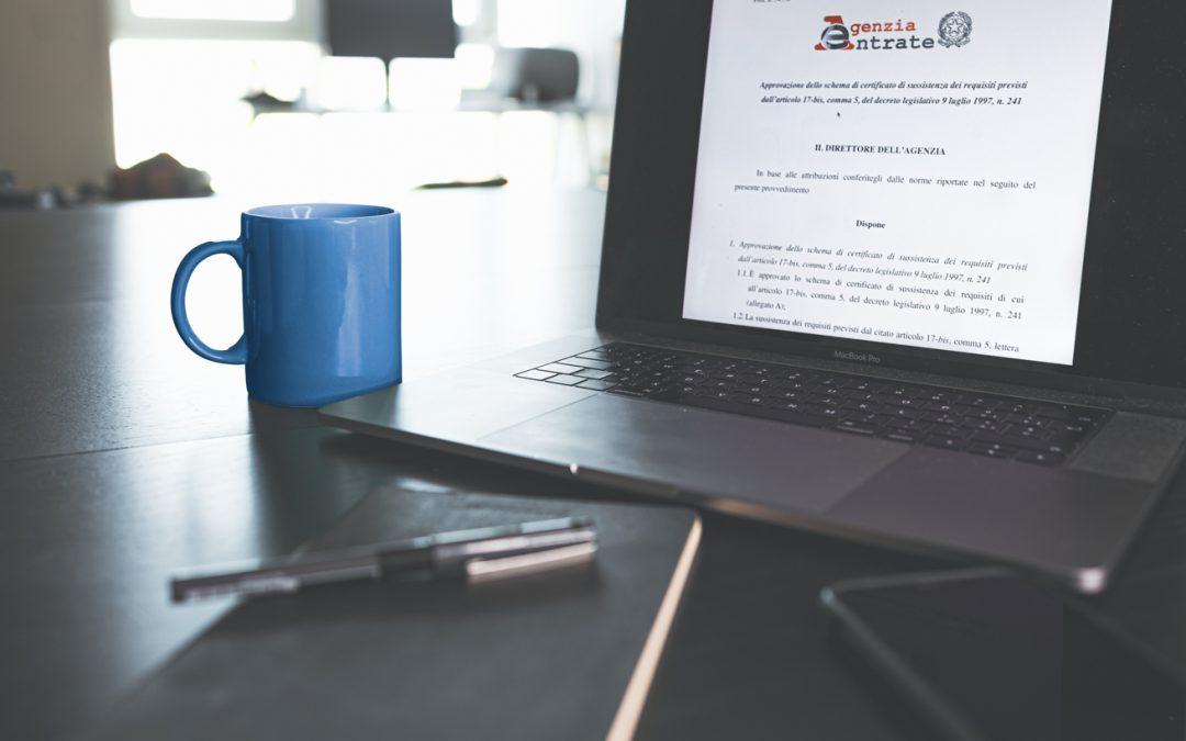 DURF – Documento Unico di Regolarità Fiscale. Provvedimento dell'Agenzia delle Entrate.
