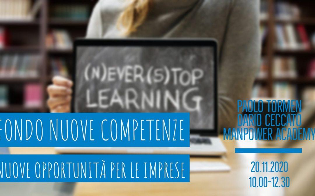 LiveTalk TDU | Fondo nuove competenze. Nuove opportunità per le imprese