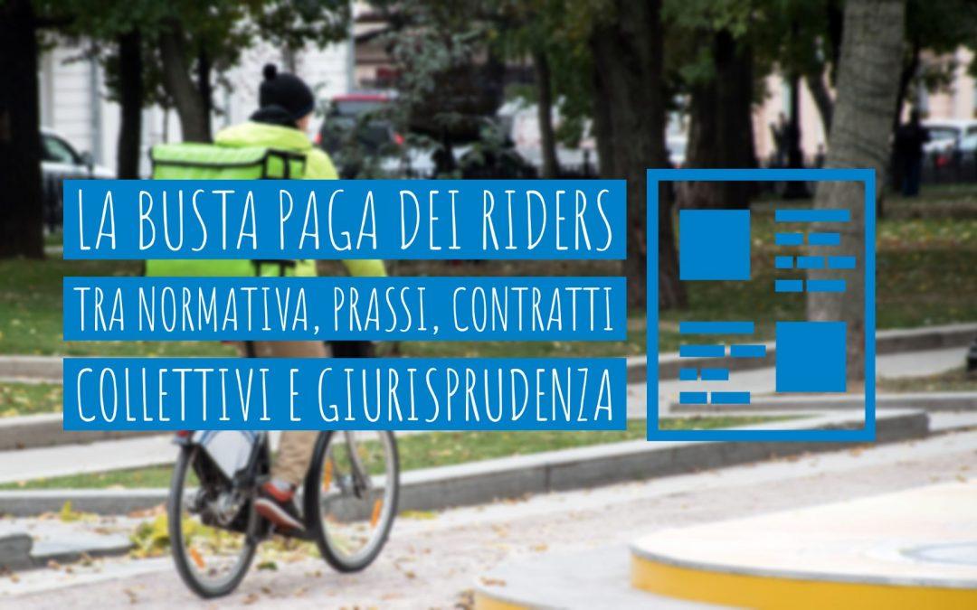 La busta paga dei riders  tra normativa, prassi, contratti collettivi e giurisprudenza
